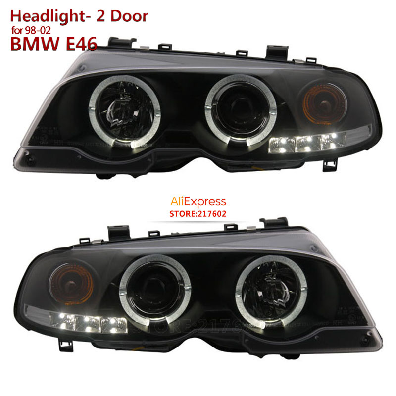for BMW 3-Series 2 Door E46 1998-2002 year Car lights Headlights Assembly with bright angel eye SONAR brand Top Quality
