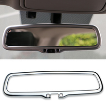 ABS Chrome Car Styling Inner Rearview mirror Frame Decoration Cover Sticker For KIA Sportage QL 2016 2017 2018 2019 Accessories for kia sportage 4 ql 2016 2017 2018 car styling interior dashboard instrument panel screen frame cover trim decoration sticker