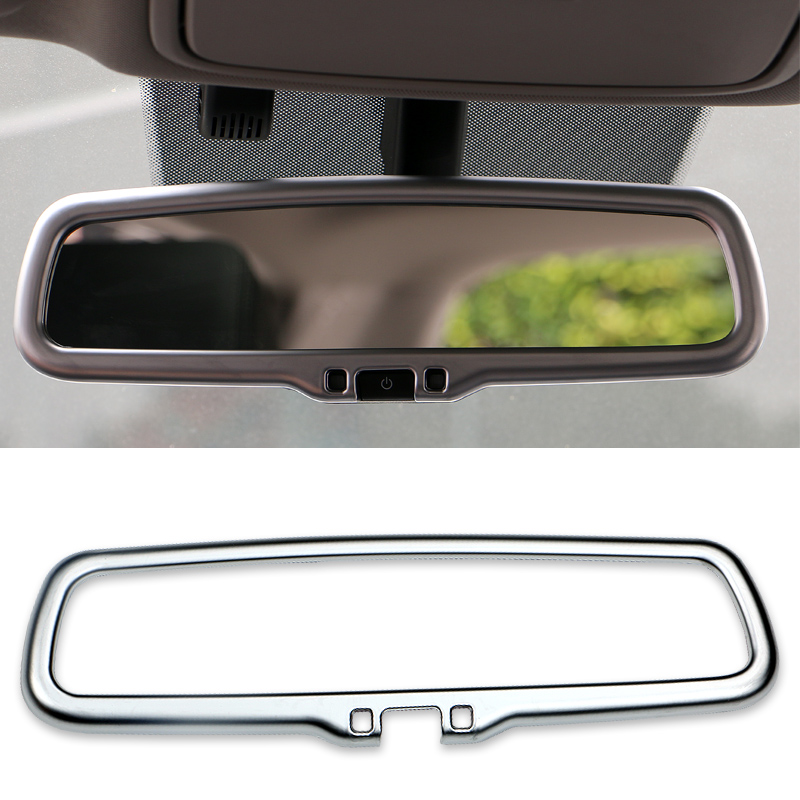 ABS <font><b>Chrome</b></font> Car Styling Inner Rearview <font><b>mirror</b></font> Frame Decoration Cover Sticker For <font><b>KIA</b></font> Sportage QL 2016 2017 2018 2019 Accessories image
