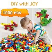Models 1000pcs DIY Blocks Creative Education Building Bricks Toys For Children Free Shipping Diy Block Bricks