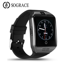 Купить с кэшбэком Q18 Smart Watch Touchscreen With Camera Bluetooth WristWatch Sport Wearable Devices SIM TF Card Smartwatch For Android Phones