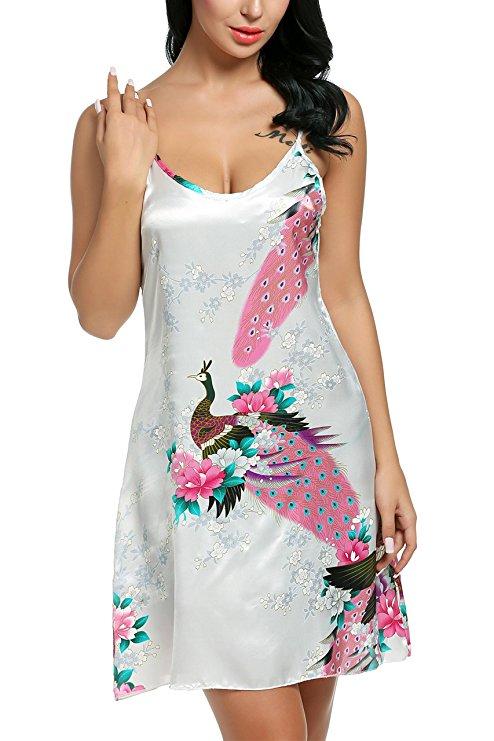 2112 New good quality sexy silk nightgowns female spaghetti strap short summer nightdress women plus size sleepwear nighties