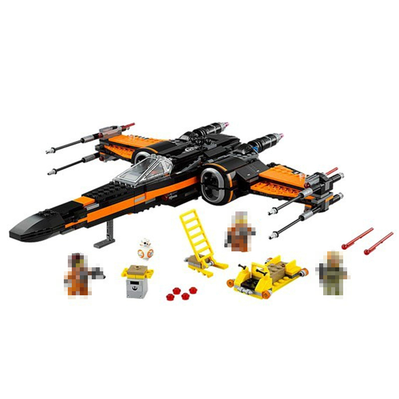 748Pcs Poe's X-wing Fighter Star Building Blocks Fighter Assembled Compatible 75102 Star wars X Wing Toys For Kids Gifts hot wheels star wars звездные корабли transporter vs x wing fighter