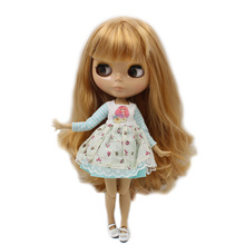 ICY Neo Blythe Doll Brown Hair Jointed Body 30cm