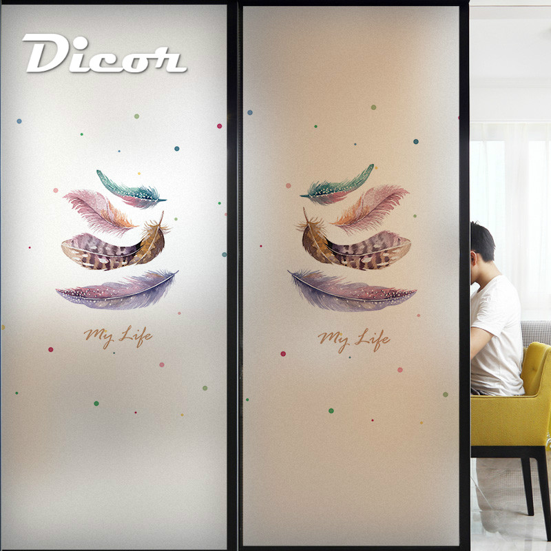 Customized Stained Static Cling Window Film Frosted Opaque Privacy Home Decor Glass Sticker Digital print BLT1269