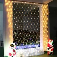 Led Net Mesh String Light Home Garden Wall TV Backgroun Decorate 6x4M EU Plug Fairy Starry Wedding Party Garland Lamp