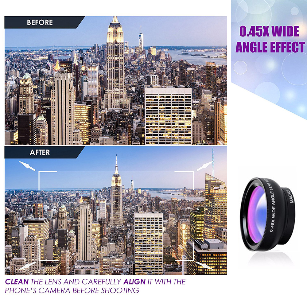 APEXEL Phone Lens kit 0.45x Super Wide Angle & 12.5x Super Macro Lens HD Camera Lentes for iPhone 6S 7 Xiaomi more cellphone-in Mobile Phone Lenses from Cellphones & Telecommunications on Aliexpress.com | Alibaba Group 3