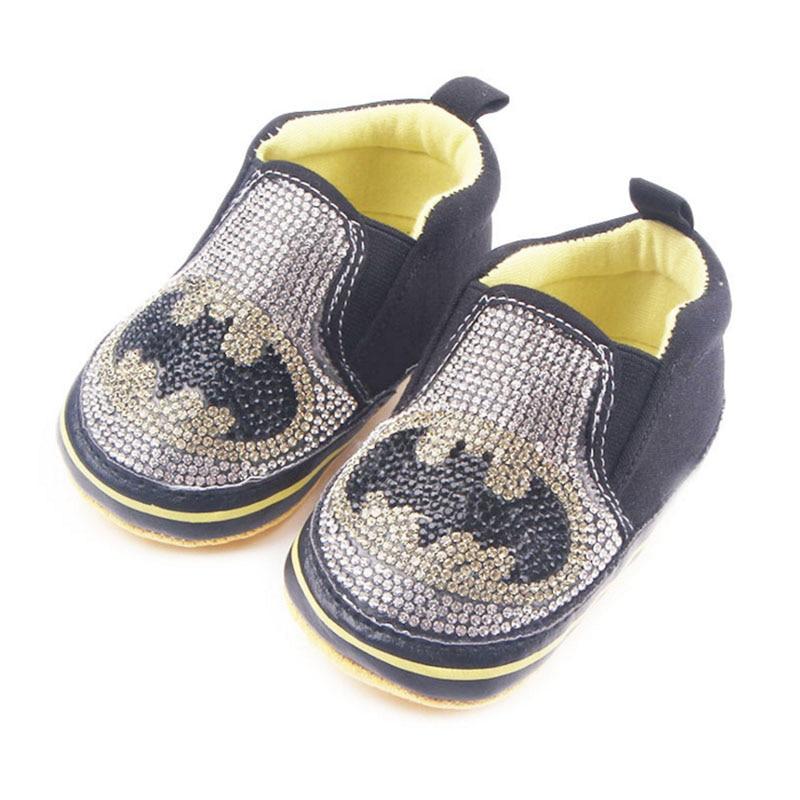 Kūdikis berniukas su deimantiniais žingsniniais batais minkšta apačia šikšnosparniai penkių kampų žvaigždės kapitonas Toddler bateliai pavasario rudenį xz92