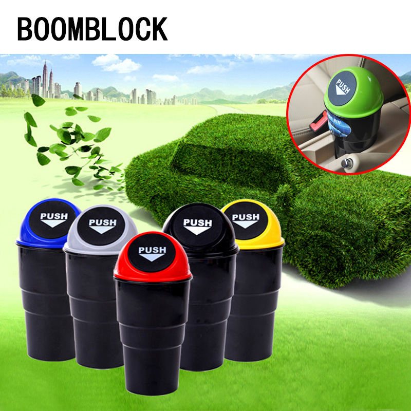 BOOMBLOCK 1Pc Trash Box Organizer For Lada Vesta Granta Kalina Audi A4 B7 A6 C5 Hyundai Solaris Car-styling Mini Car Bin Garbage