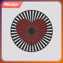 Mindyn Handmade Electronics 3D dynamic grating animation illusion motion moire fringe Decoration gift for home