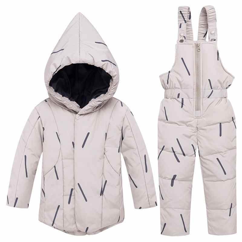 2019 русская зимняя цветная Меховая куртка с капюшоном + комбинезон зимний детский костюм лыжный качественный водонепроницаемый съемный комплект с капюшоном N18
