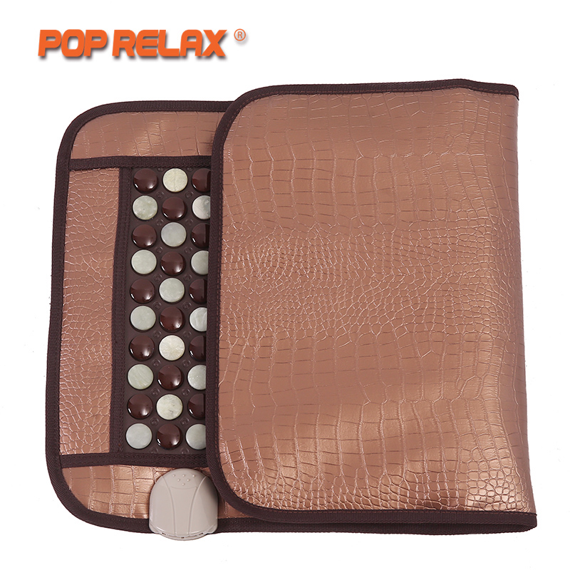 POP RELAX Korea Health Mattress Tourmaline Jade Germanium Ion Electric Heating Physiotherapy Stone Massage Mat Thermal Mattress pop relax healthy mattress tourmaline jade germanium ion far infrared heating therapy stone massage mat thermal sitting mattress