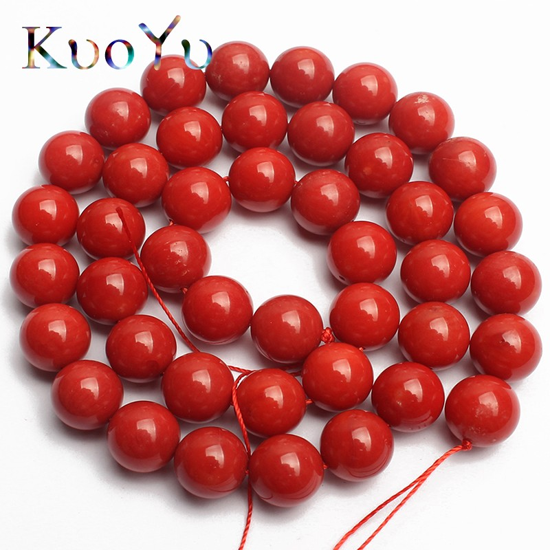 AAA Natural <font><b>Red</b></font> <font><b>Coral</b></font> Beads Round Spacer Loose Beads For Jewelry Making 15