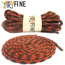 YJRVFINE 1 Pair Brand Wear-resistant Outdoor Shoe laces Climbing ShoeLaces Orange & Brown Round  Hiking Shoelaces for Shoes Rope