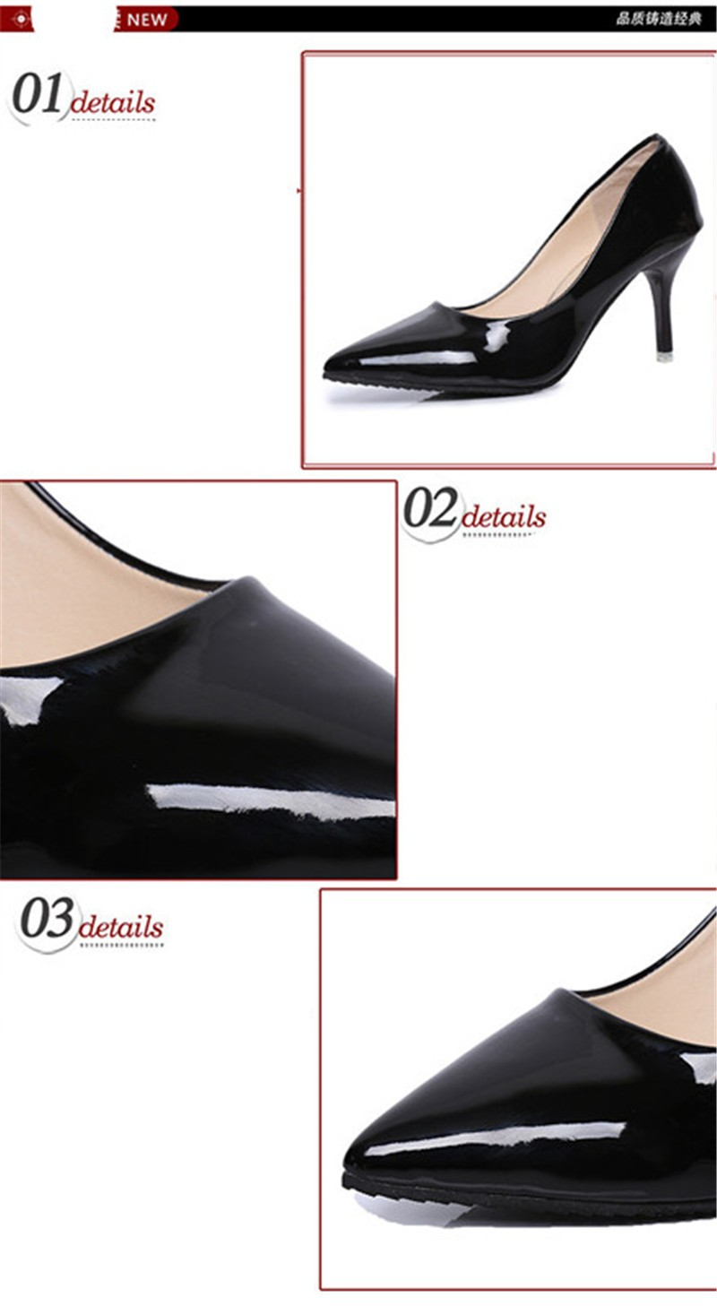 2016 Fashion Hot sale 5 colors PU Leather Pointed Toe High Heels Sexy shoes Office Shoes Women\'s Pumps HSB06 (10)
