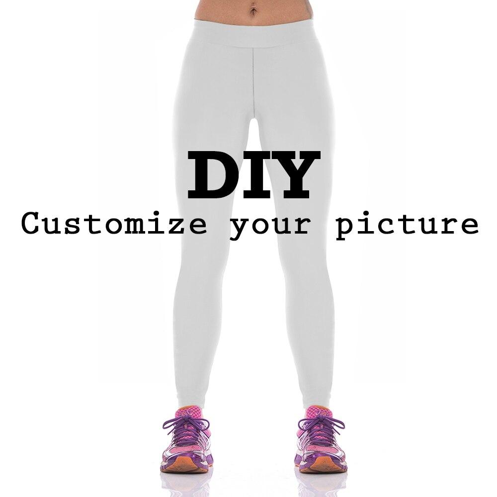 NADANBAO DIY anpassen LEGGINGS frauen 3D Digitale 1MOQ Hohe taille sporting legging Fitness legins für frau plus größe S-XL