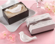 Free Shipping 10pcs mini Cute Love heart &Love Dove scented soap wedding soap favors wedding souvenirs baby shower favor gift