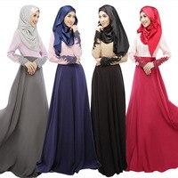 Muslim Islamic Women Abaya Dress Arabic Dubai Kaftan Dresses Robe Female Lace Turkish Turkey Prayer Party Clothing Plus Size