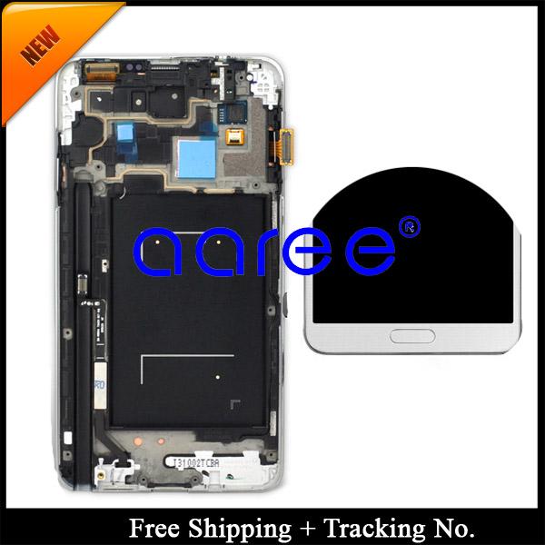 Prix pour Livraison gratuite Pour Samsung Galaxy Note 3 n9005 n900A N900 LCD Digitizer Assemblée avec cadre