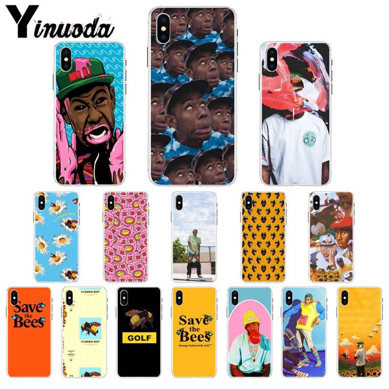 Yinuoda Tyler The Creator Гольф пчелы прозрачный мягкий чехол для телефона чехол для iphone 8, 7, 6, 6 S, Plus, 5, 5S SE XR X XS MAX корпус под плетенную сумку