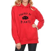 "Amazing ""Powered By Plants"" women's hoodie / 2 Colors"