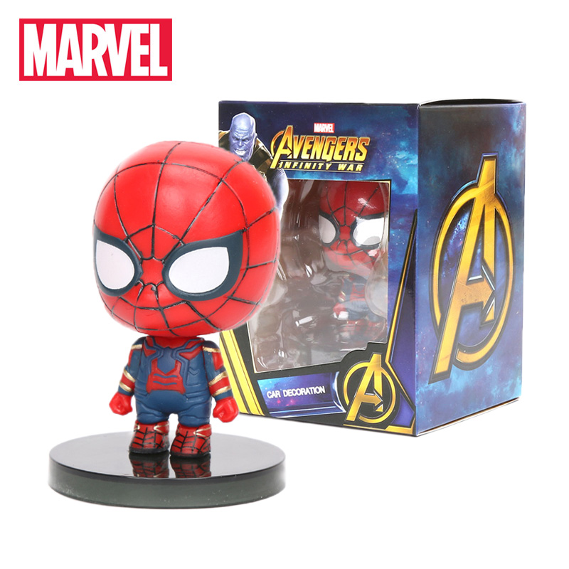 6CM Marvel Toys Avengers Infinity War Iron Spider Ironman Hulk PVC Action Figures Spiderman Thanos Spider-Man Figurine Car Decor(China)
