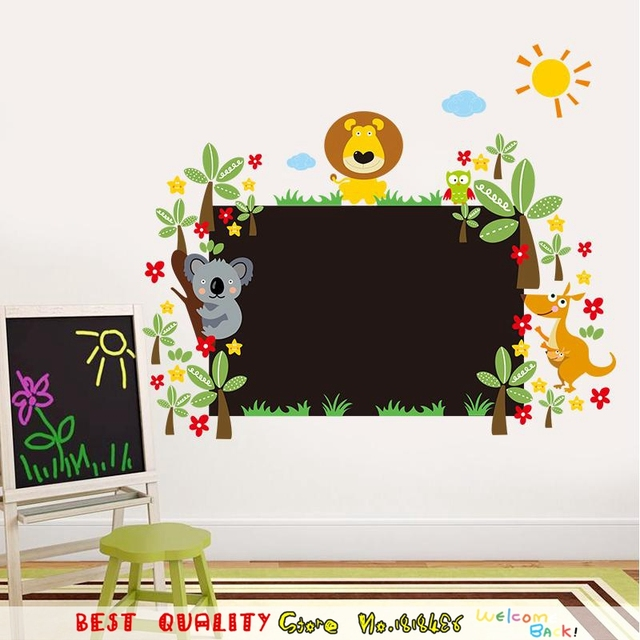 Sloth Chalkboard Stickers Cl Room Kindergarten Nursery Decor Baby S Decoration Home Decals Cartoon Mural Art