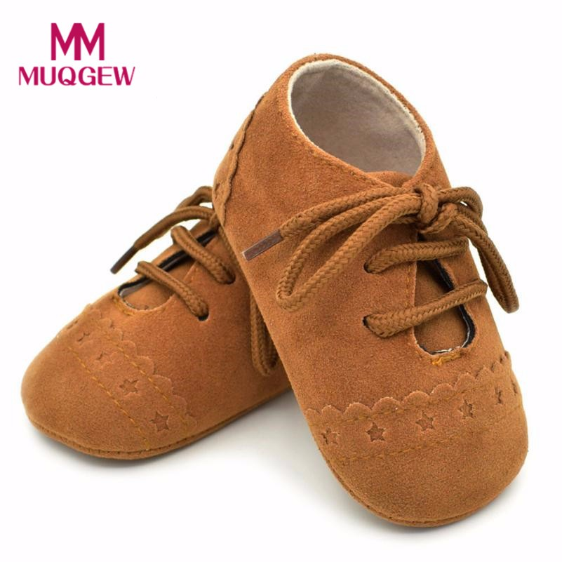 MUQGEW Spring Autumn Baby Toddler Shoes Sneaker Anti-slip Soft Sole Lace Up Shoes 15