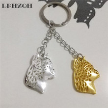LPHZQH trendy American Staffordshire keychains women bag pendant fashion accessories charm car Key rings jewelery gift punk