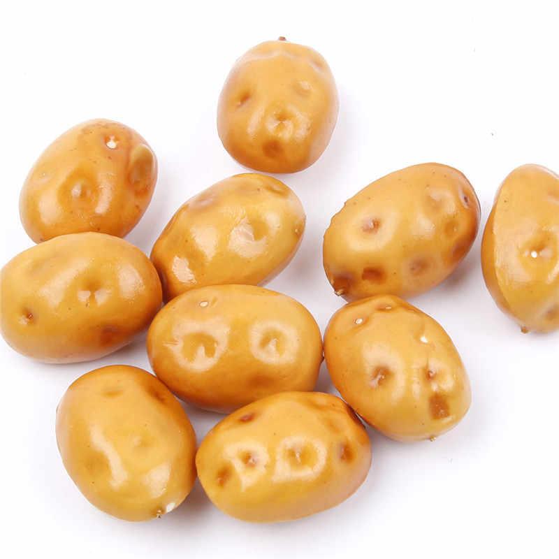 10 шт./компл. пенный мини картофель Когнитивная Игрушка Искусственные Поддельные фрукты овощи дома Обеденный стол Свадебная вечеринка украшения