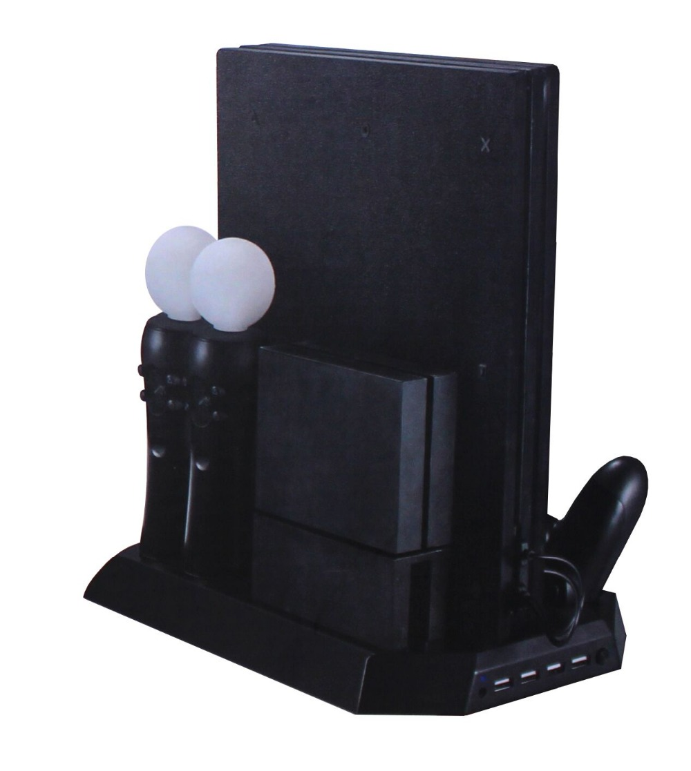 Game accessories All-In-One Console Stand Charging for PS4 Move & Controllers, with Cooling Fan for PS4 Pro & PS VR Connector