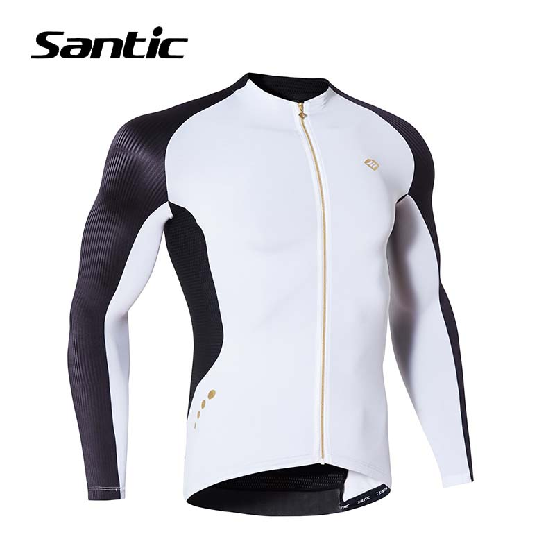 Santic Cycling Jersey Men Long Sleeve Quick Dry Road MTB Bike Jersey 2017 Pro Racing Team Breathable Downhill Bicycle Jersey santic rts team athletics cycling jersey 2016 upf40 quick dry breathable 4d padded mtb bicycle bike jersey long sleeve skinsuit