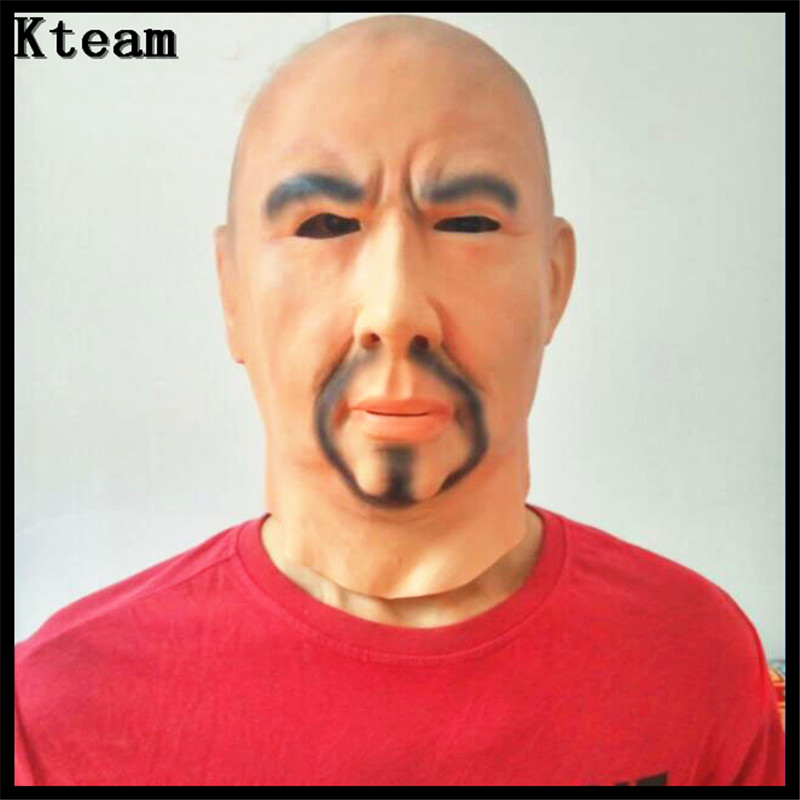 Top Grade 100% Latex Realistic Cosplay Costume Fancy Dress Strong Man Mask Deluxe Breaking Bad Man Mask Crossdress Skin Mask toy