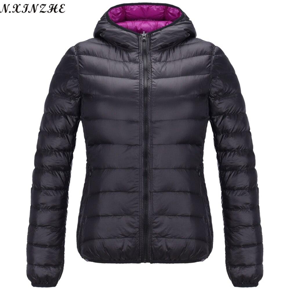 N Xinzhe Reversible Hooded Coat Female 2017 Spring Jackets
