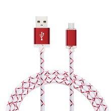 Braclooty высокое качество красные, синие модные Тип зарядки круглый usb кабель для передачи данных Серебряный разъем телефонов и компьютеров