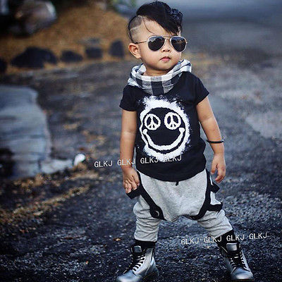 a142db09b New 2pcs Toddler Kids Baby Boy T shirt Tops+Long Pants Trousers ...