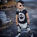 Nuevo 2 unids Toddler Kids Baby Boy Camiseta Tops + Pantalones Largos de Los Pantalones Que Arropan el sistema Trajes