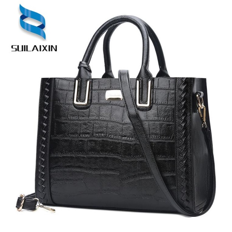Women Brand Designer Crocodile Leather Handbags Luxury vintage Large Shoulder Bag Female large tote bags high quality bolas