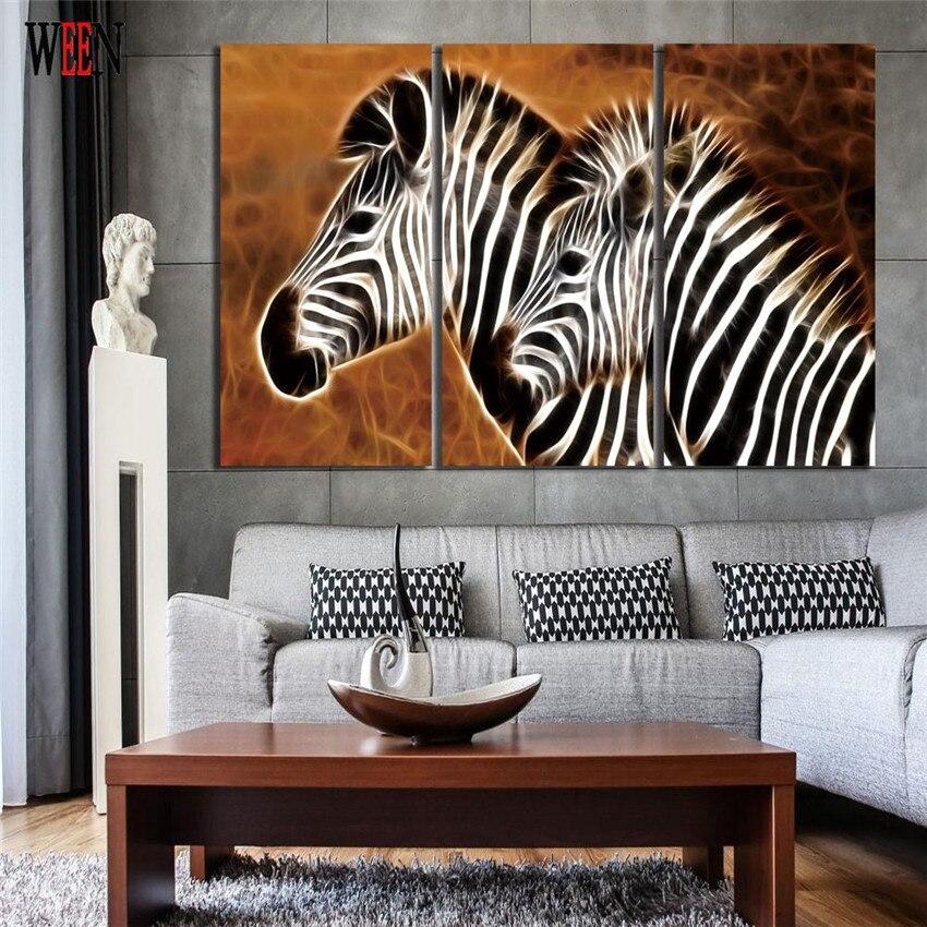 WEEN HD Gedruckt Pferd Wand Bilder Gestreckt Und Eingerahmt Direkt ...