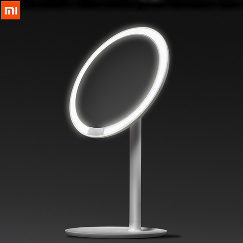Xiaomi AMIRO Wireless Led Cosmetic Mirror Makeup Mirror Lamp Vanity Mirror Dimmable Adjustable 60 Degree 2000mAh