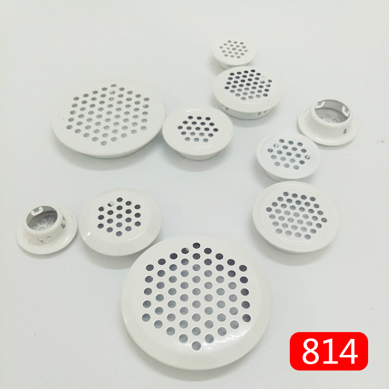 4pcs Wardrobe Cabinet Mesh Hole Air Vent Louver Ventilation Cover Stainless Steel Milk White Color Dia.19mm/25mm/29mm/35mm/53mm