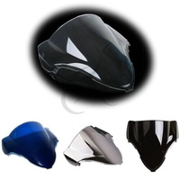 Motocicleta nova pára-brisas duplo bolha para suzuki gsxr 1300 hayabusa 99-07 00
