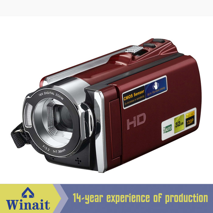 ФОТО Freeshipping professional video camera 12mp photographing 5.0MP CMOS photo camera 720P HD digital camcorder with 32GB memory