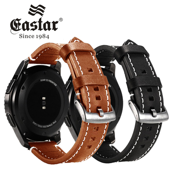 Eastar Genuine Leather Strap For Samsung Gear S3 Band Frontier Strap for xiaomi huami amazfit bip pace lite strap