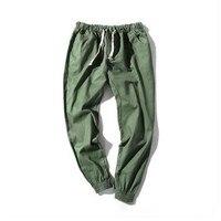 Mens Harem Pants 2017 Summer Grey Casual Men Trousers Linen Army Cargo Pants Men Joggers Elastic
