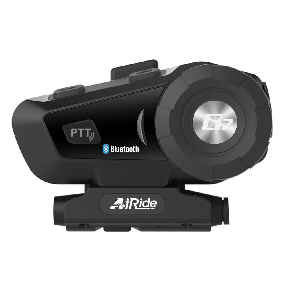 AiRide G2 Motorcycle Bluetooth Helmet Intercom Headset MP3 FM for Siri Command Handsfree Moto BT Interphone 500m For 2 Riders v2 100 100m 2 rider handsfree bluetooth intercom set for motorcycle black