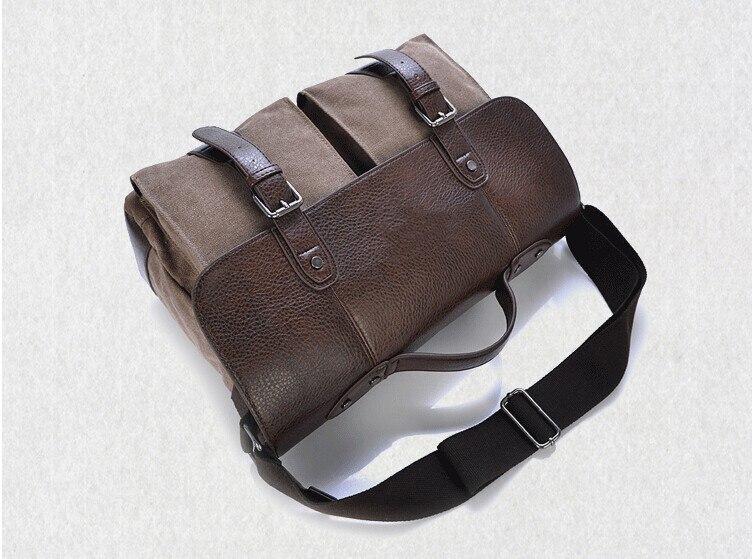 de couro dos homens maleta bolsas de ombro
