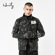 HMILY Mens Jackets Slim Casual Male Trench Coats Sections Men Jacket Windbreaker Brand Washed Military Uniform