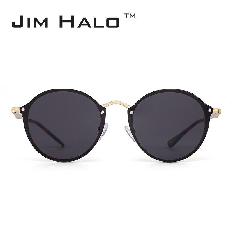 Jim Halo Sans Monture Miroir Rond Lunettes de Soleil Légères Femmes ... f7f65a86452c