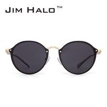Jim Halo Rimless apaļais spogulis viegls saulesbrilles sievietēm vīriešiem retro modes saulesbrilles vintage luksusa zīmola dizains UV400 gafas